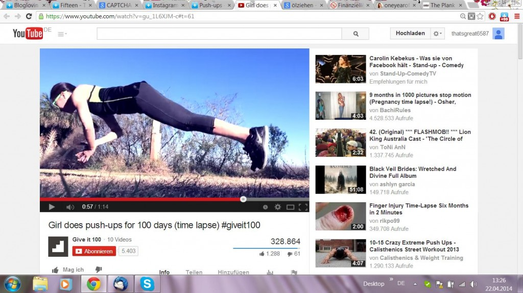Motivation Video: Girl does push-ups for 100 days