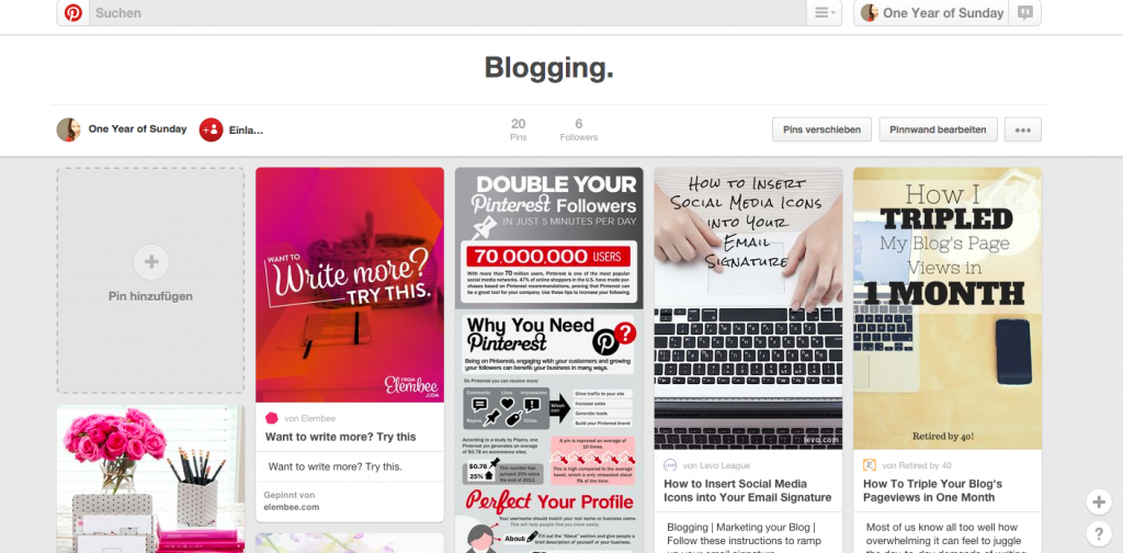 pinterest blogging