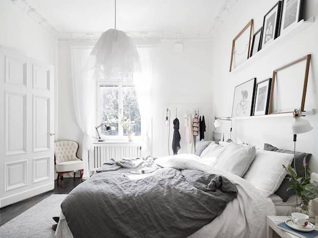 skandinavische Wohnung, alles weiß