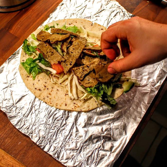 """Vegetarische Wraps mit Seitan (+""""Was ist eigentlich Seitan?"""")"""