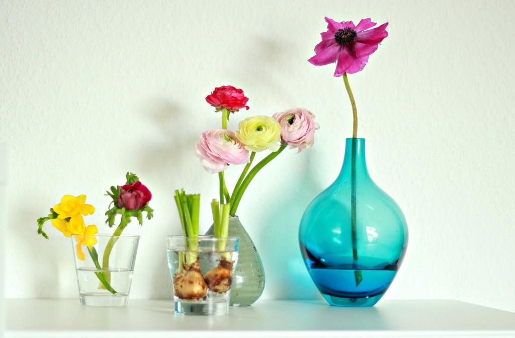 Ein Stillleben aus Blumen