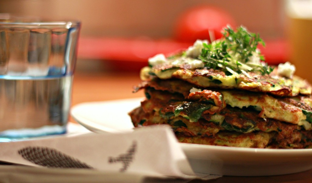 omelett mit spinat zucchini